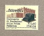 Sellos de Europa - Italia -  100 Años fundación primera fábrica de Olivetti