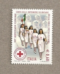 Stamps Europe - Italy -  100 Aniv de las enfermeras voluntarias italianas de la Cruz roja