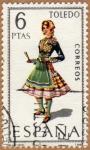 Stamps Spain -  TRAJE REGIONAL FEMENINO – TOLEDO