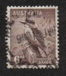 Sellos del Mundo : Oceania : Australia : Kookaburra (Dacelo novaeguineae)