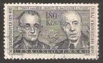 Sellos de Europa - Checoslovaquia -  Miloslav Valouch - Juraj H. Ronec