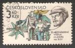 Stamps Czechoslovakia -  25 salida Internacional de la Juventud en funciones