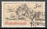 Sellos de Europa - Checoslovaquia -  Vehiculos postales