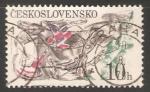 Sellos de Europa - Checoslovaquia -  Gran carrera de obstáculos de Pardubice
