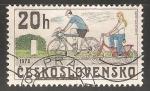 Sellos de Europa - Checoslovaquia -  Bicicletas