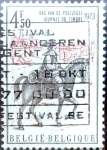 Stamps Belgium -  Intercambio 0,20 usd 4,50 fr. 1973
