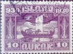Stamps : Europe : Iceland :  Intercambio jxa 20,00 usd 10 aurar 1930