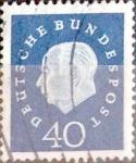 Sellos de Europa - Alemania -  Intercambio 0,90 usd 40 pf. 1959