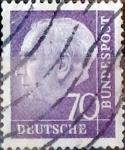 Sellos de Europa - Alemania -  Intercambio 0,40 usd 70 pf. 1956