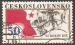 Sellos de Europa - Checoslovaquia -  65 años del Partido Comunista