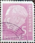 Stamps Germany -  Intercambio 0,20 usd 5 pf. 1954