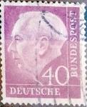 Sellos de Europa - Alemania -  Intercambio 0,20 usd 40 pf. 1954