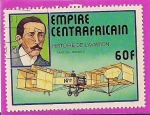 Stamps Africa - Central African Republic -  histoire de l' aviation