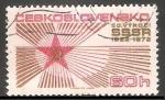 Stamps Czechoslovakia -  50 aniversario de la Unión Sovietica