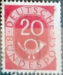 Sellos de Europa - Alemania -  Intercambio 0,20 usd 20 pf. 1951