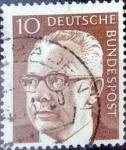 Sellos de Europa - Alemania -  Intercambio 0,20 usd 10 pf. 1970