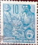 Sellos de Europa - Alemania -  Intercambio 0,20 usd 10 pf. 1955