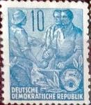 sellos de Europa - Alemania -  Intercambio 0,20 usd 10 pf. 1955