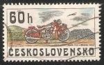 Sellos de Europa - Checoslovaquia -  Moto Jawa 175