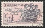 Stamps Czechoslovakia -  Bomberos Cruz rojo