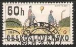 Sellos de Europa - Checoslovaquia -  Bicicletas 1886