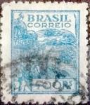 Stamps : America : Brazil :  Intercambio 0,35 usd  400 reales 1941
