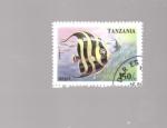 sellos de Africa - Tanzania -  pez angel