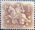 Stamps : Europe : Portugal :  Intercambio 0,20 usd  1 escudo 1953