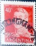 Sellos de America - Argentina -  Intercambio 0,20 usd  40 cents. 1955
