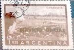 Sellos de America - Argentina -  Intercambio 0,20 usd  1 peso  1958