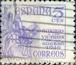 Stamps Spain -  Intercambio 0,20 usd  5 cents. 1949
