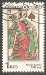 Sellos de Europa - Checoslovaquia -  juegos de cartas del siglo 17