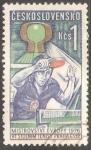 Sellos de Europa - Checoslovaquia -  Campeonato europeo de tenis de mesa