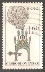 Sellos de Europa - Checoslovaquia -  Gothic Town Hall Tower, Brno