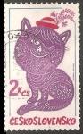 Sellos de Europa - Checoslovaquia -  Folktale character embroideries