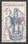 Sellos de Europa - Checoslovaquia -  janosik cabalgando por Jozef Franko,