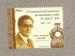Stamps Peru -  125 Aniversario Dr. Tello