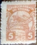 Stamps : America : Uruguay :  Intercambio 0,20 usd 5 Cents. 1952