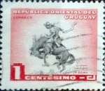Sellos del Mundo : America : Uruguay : Intercambio 0,20 usd 1 Cent. 1954