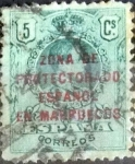 Stamps Spain -  Intercambio 0,20 usd 5 cents. 1916