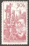 Sellos de Europa - Checoslovaquia -  Vendimia