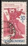 Sellos de Europa - Checoslovaquia -  60 aniversario de la Revolución Rusa
