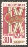 Sellos de Europa - Checoslovaquia -   9º Congreso de Sindicatos