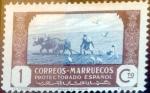 sello : Europa : España : Intercambio 0,20 usd 1 cents. 1944