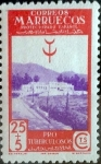 Stamps Spain -  Intercambio cr3f 0,20 usd 25 +5 cents. 1946