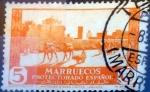 sello : Europa : España : Intercambio 0,20 usd 5 cents. 1937