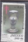 Stamps Mexico -  artesania- florero