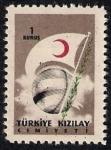 Sellos de Asia - Turquía -  Globo y Bandera