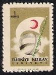 Stamps Turkey -  Globo y Bandera