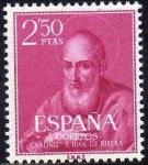 Sellos de Europa - España -  ESPAÑA 1960 1293 Sello Nuevo Beato Juan de Ribera 2,50pts c/señal charnela